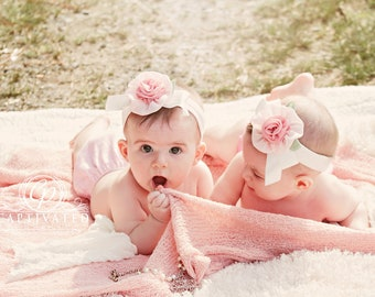 Newborn Photo Prop:  Lovely Rose Knit Blanket for Newborn Photo Shoot, Bean Bag Cover, Newborn Photography, Infant Photo Prop Posing Blanket