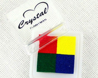 4 Colors Water-Based Mini Ink Pad Ver. 01 (1.4 x 1.4in)