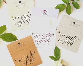 50 No Ugly Crying Tissue Packs for Wedding Ceremony | Wedding Tissue | Tears of Joy | Happy Tears | Personalized Favors | Custom Decorations