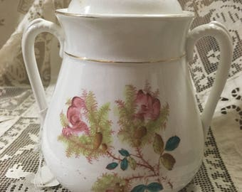 Moss Rose Cannister with Lid Medium