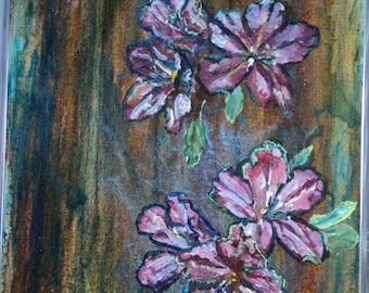 Azaleas Painting in Oil