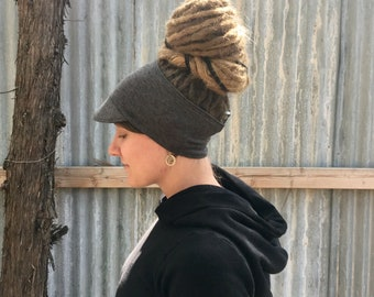 Move Militant SHORTY Light Weight Hemp / Recycled Poly Brimmed Headband / Dreadband