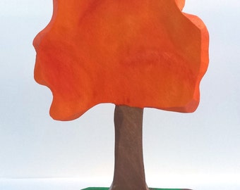 Oak tree, wooden trees, Waldorf trees, Montessori trees, Fall tree, imaginative play, open ended play, tree decor, Waldorf toys, toy tree