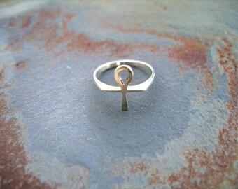 Ankh Ring  Sterling Silver RF056