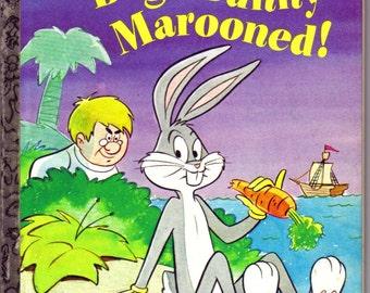 Bugs Bunny Marooned, Vintage Little Golden Book, Children's Story, 1980, Purple, Rabbit   (211-10)