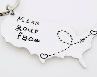 US State Map, Long Distance Gift, Moving Away gift, Going Away, Gift for Boyfriend, Gift for Girlfriend, United States, Long distance love