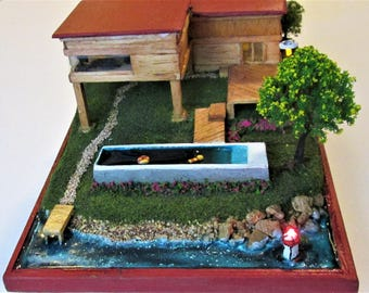 Miniature Lake house fully furnished. (The Lake House)