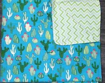 Cacti Throw or Baby Blanket