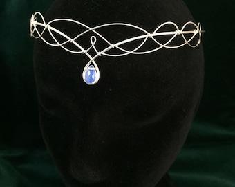 Moonstone Headpiece Silver Circlet Elven Headpiece Medieval Wedding Boho Wedding Circlet Headpiece Bridal Tiara