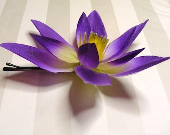 LOTUS lovers - purplesys - customizable on bobby pin, barrette, comb or alligator clip