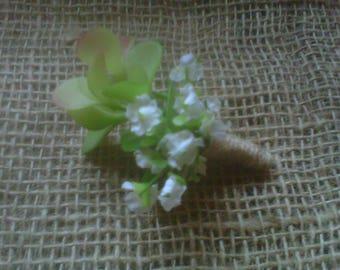 woodland succulent buttonhole /groom .bestman /ladies
