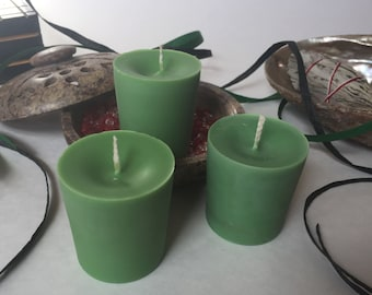 Green Unscented Soy Wax Votives