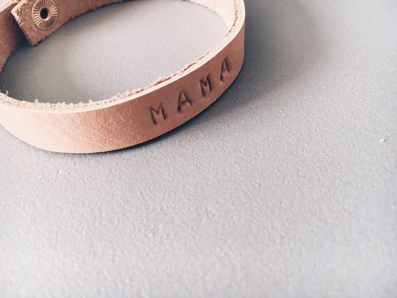 Custom Stamped Leather Bracelet