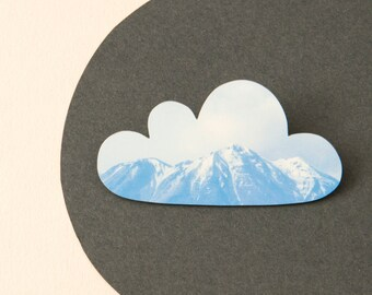 Mountain cloud brooch - Silver Lining