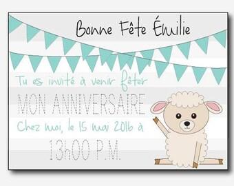 For a child's birthday invitation