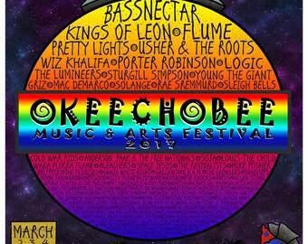 2017 Okeechobee Music & Arts Festival Poster (11 x 17)
