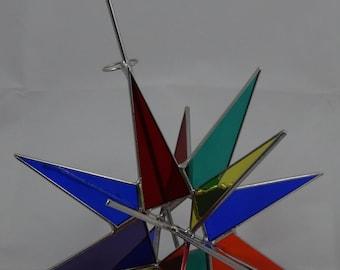 18 Point Multi Color Moravian Star Tree Topper