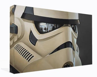 Star Wars Storm Trooper Helmet  Canvas Print  Wall Art Ready To Hang Or Poster Print