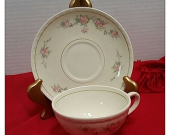 Homer Laughlin Eggshell Georgian Countess  Tea Cup & Saucer