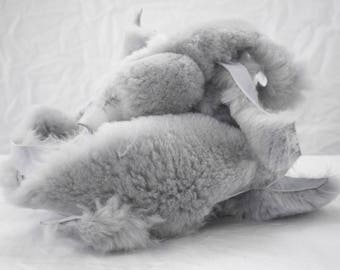 1 lb Gray Sheepskin Craft Pieces for Winter clothes and diy projects for kids and adults