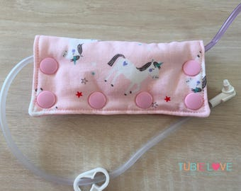 Pink Unicorns Feeding Tube Connector Cover/Port Cover
