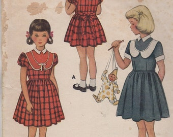 Sz 4-1951 Child's Dress McCall 8401 Breast 23