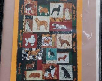 Family Dog Machine Applique Quilt Pattern