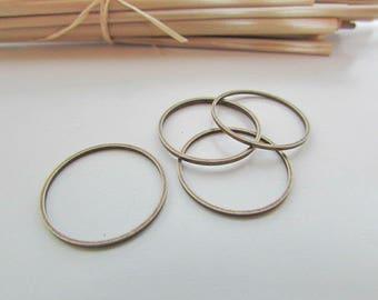 10 12 closed rings connector, 16, 20 mm metal bronze