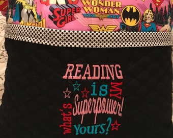 Wonder Woman Super Girl Bat Girl Reading Pillow