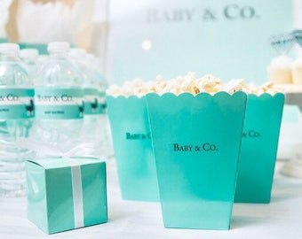 Robin's Egg Blue Popcorn Boxes
