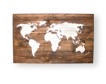 World Map Push Pin- World Map Wood- Travel Map- Wall Decor- Signs for Home- Nursery Wall Art- Map Wall Art- Office Wall Art- Office Decor