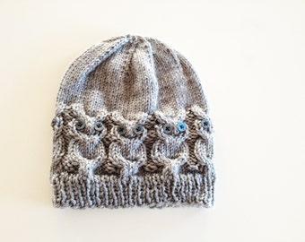 Owl Knit Hat Pattern