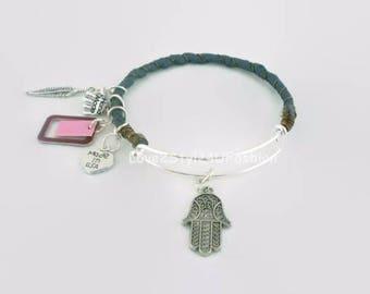 Bangle Bracelets, Silk Wrapped Bangle, Silver Wire Bangles, Bracelets, Bangles, Artisan Bangle, Arm Candy Fashion, Godmother Bracelet
