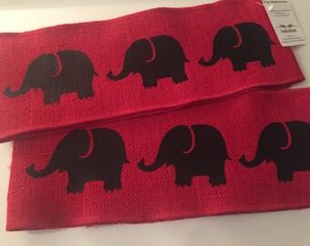 Decorative Burlap Pillow Wrap/ROLL TIDE Pillow Band/Pillow Wrap