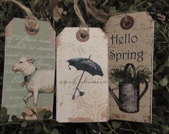 Primitive Spring & Garden Mixed Hang Tags