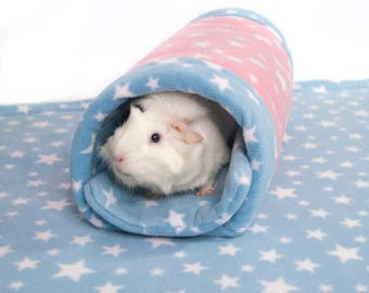 Guinea Pig Small Animal Fleece Accessory NUZZLE TUNNEL Tube Bed Cosy
