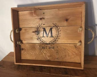 Personalized Reclaimed Serving Tray