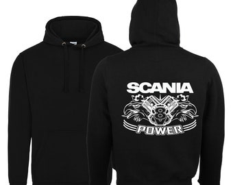 Scania V8 Power 2018 Hoodie / Scania V8 Black Hoody Size Xs-5xl
