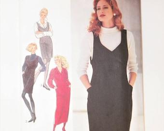 Misses Sewing Pattern Misses Pinafores Jumper Style 2141 UNCUT & Plus Size 8-10-12-14-16-18 Bust 31.5-40 Vintage