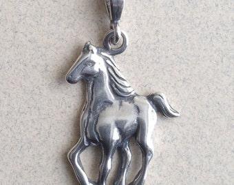 Sterling Silver Colt Horse Pendant P-28
