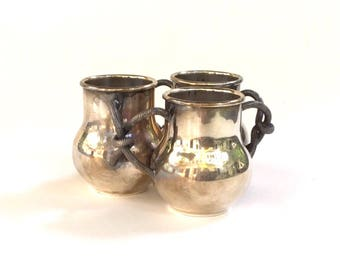 Vintage Andover Hall Tripleplate Bud Vase, Toothpick Holder, EPNS 620
