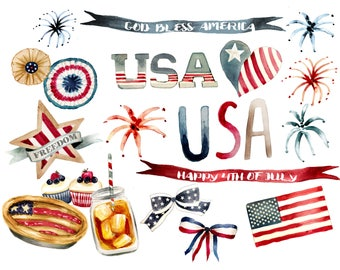 Fourt of July clipart, usa flag, independence day, labor day, Memorial Day