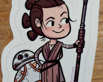 Rey and BB-8 Vinyl Sticker