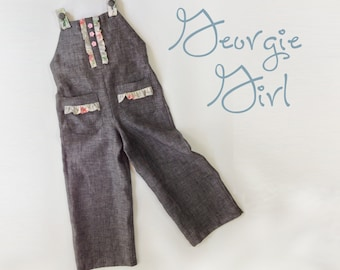Georgie Girl Coverall - PDF Pattern  Girl Toddler Sewing Pattern Sizes 1yr - 8ry