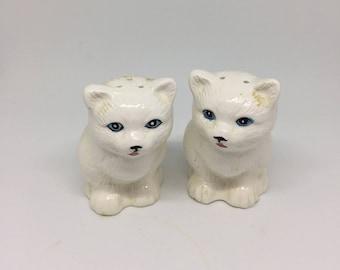 Antique Ceramic Cat Salt and Pepper Shakers
