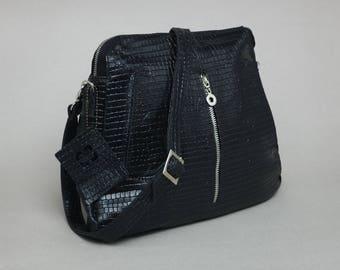 crossbody bag - pockets - comfortable - leather bag - genuine leather - handmade - handbag - sale - purse - Moon
