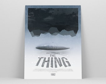 The Thing ~ Horror Movie Poster, Minimalist Poster, Gifts for Him, Fathers Day Gift, Art Print, Wall Art