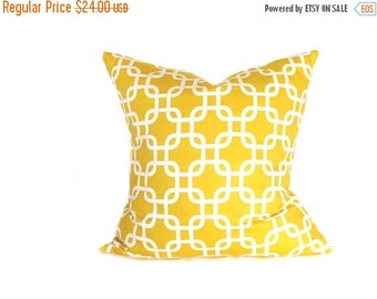 15% Off Sale Euro Pillow Cover. Yellow Pillow. Euro Pillow Sham.Decorator Pillow Cover 24x24 inch.Floor CushionsPrinted Fabric on front and