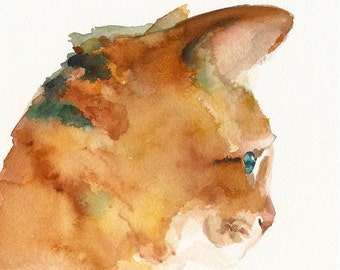 Archiv Oliver - chat Art - de l'aquarelle