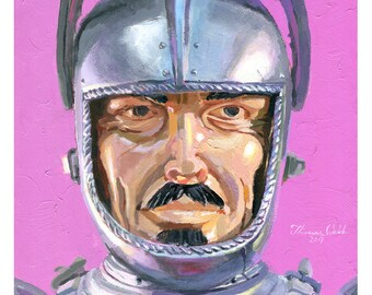 Sir Stuart The Silver Knight (Fine Art Print not a real Silver Knight)